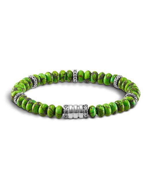 John Hardy - Metallic Men's Sterling Silver Bedeg Beaded Bracelet With Mohave Green Turquoise for Men - Lyst