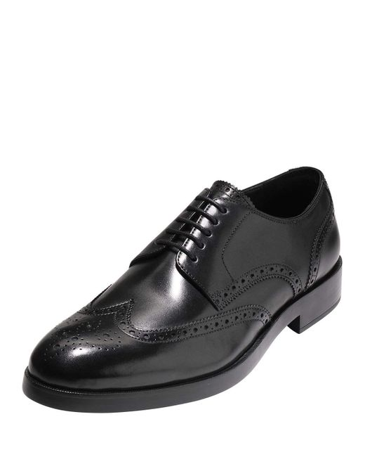 Cole Haan - Black Harrison Wing-tip Leather Oxford for Men - Lyst