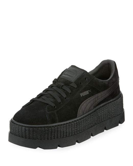 PUMA - Black Low-top Suede Cleated Creeper Sneaker - Lyst