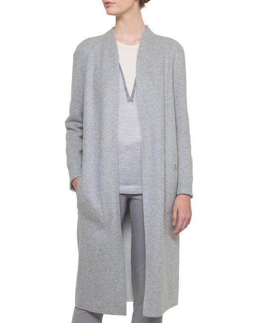Akris - Multicolor Open-front Reversible Silk Jersey Long Coat - Lyst