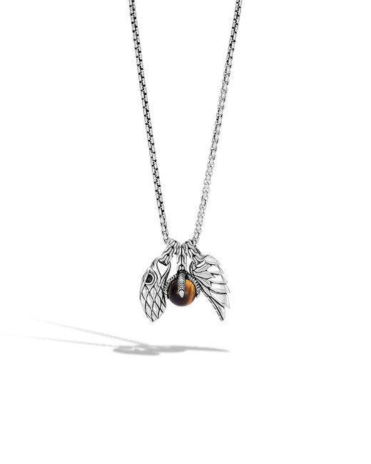 John Hardy - Brown Men's Legends Eagle Amulet Pendant Necklace for Men - Lyst