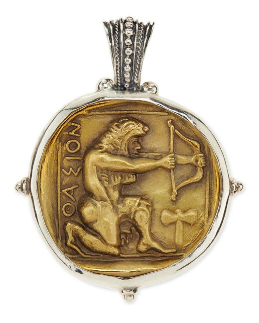 Konstantino - Metallic Men's Sterling And Bronze Hercules Pendant for Men - Lyst