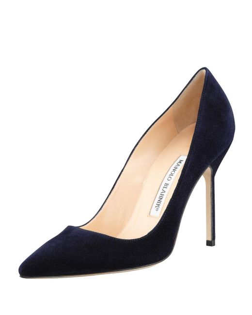 Manolo Blahnik - Blue Bb Suede 105mm Pump - Lyst