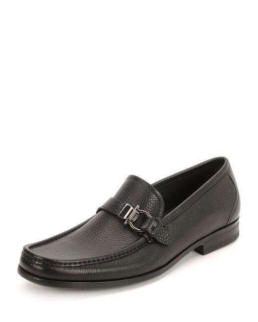 Ferragamo - Black Muller Calfskin Loafers for Men - Lyst
