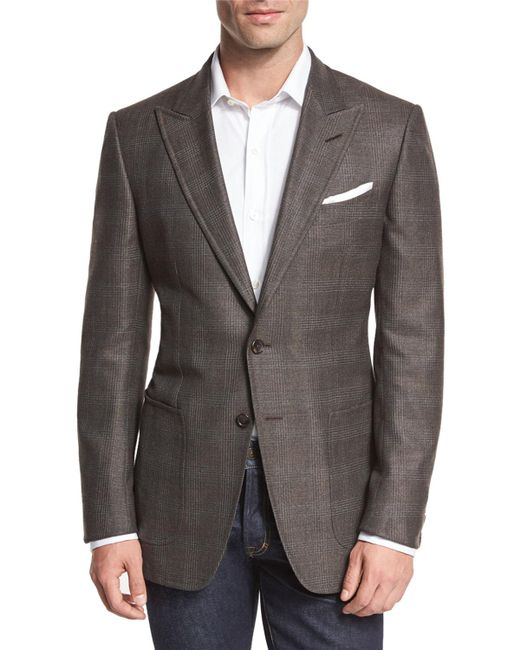 Tom Ford - Brown O'connor Base Glen Plaid Two-button Sport Coat for Men - Lyst
