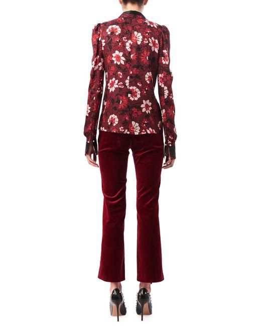 Altuzarra | Red Marlowe Floral Dot Satin-trim Shirt | Lyst