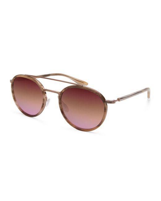 Barton Perreira | Pink Justice Mirrored Round Sunglasses | Lyst