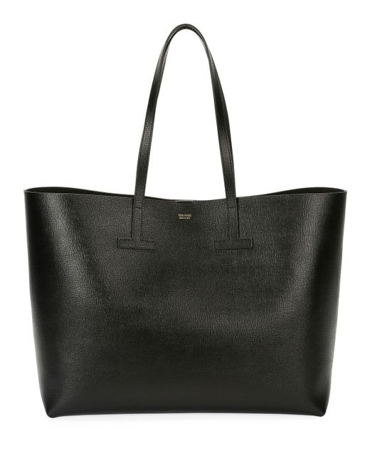 Tom Ford - Black New Small T Tote Printed Saf - Lyst