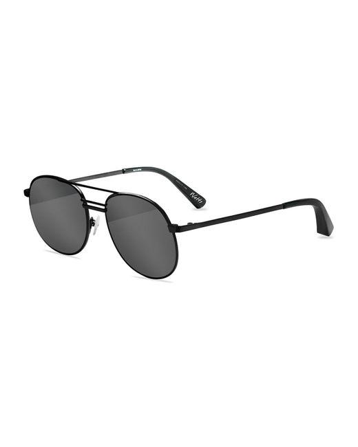 Elizabeth and James   Black Watts Aviator Metal Sunglasses   Lyst