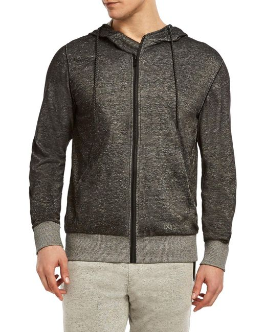2xist - Gray Flecked Sport Zip Sweatshirt for Men - Lyst