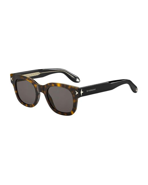 Givenchy - Brown Square Acetate Sunglasses - Lyst