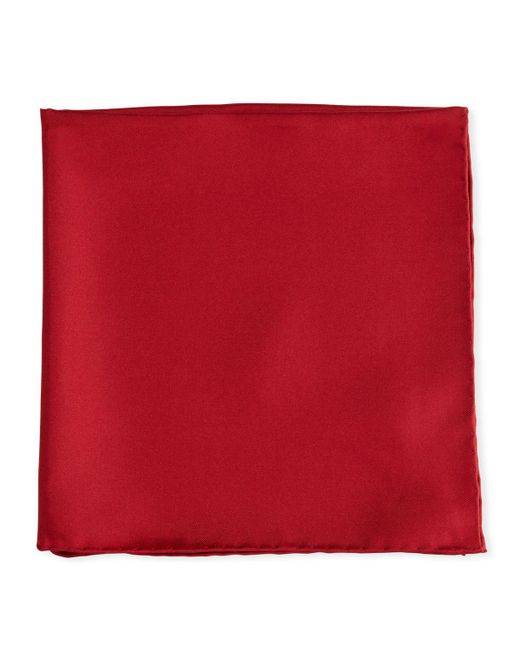 Psycho Bunny - Red Solid Silk Twill Pocket Square for Men - Lyst