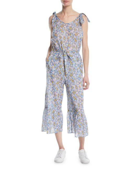 MiH Jeans - Blue Treelove Cotton Jumpsuit - Lyst