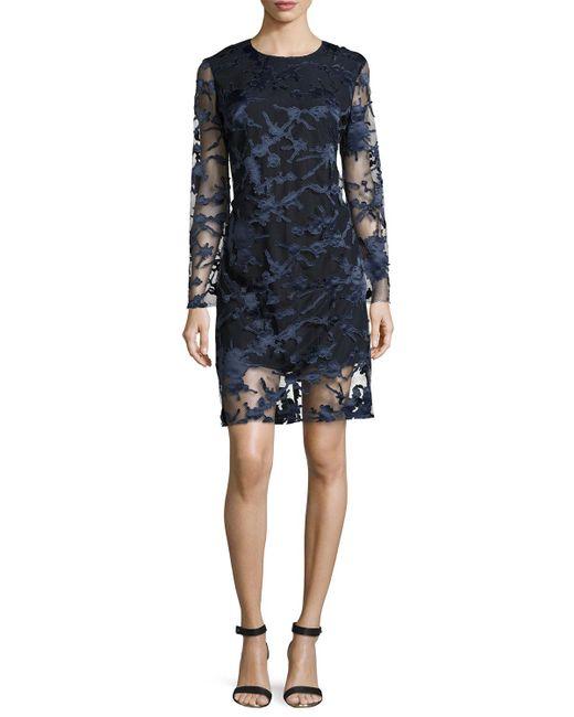 Haney | Blue Clara Laser-cut Lace Shift Dress | Lyst