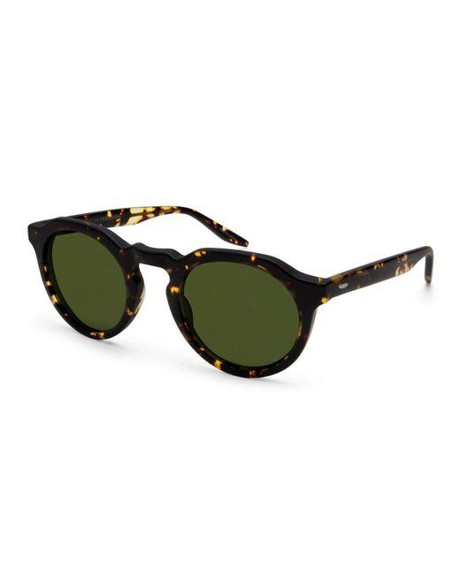 Barton Perreira   Brown Ascot Dark Havana Round Sunglasses   Lyst