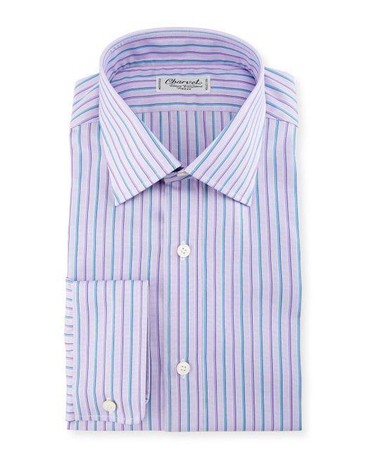 Charvet - Blue Alt-striped Dress Shirt for Men - Lyst