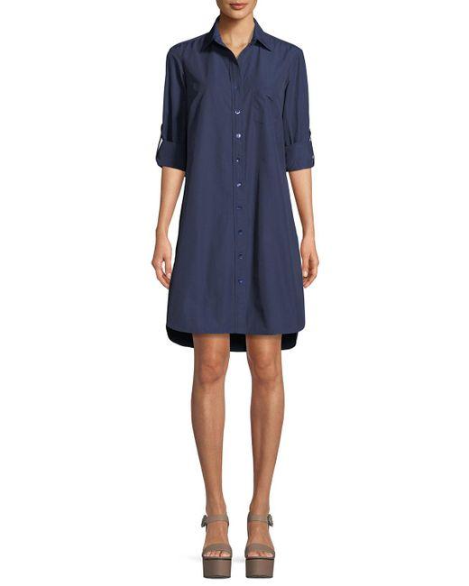 Finley - Blue Alex Easy Tab-sleeve Shirtdress - Lyst