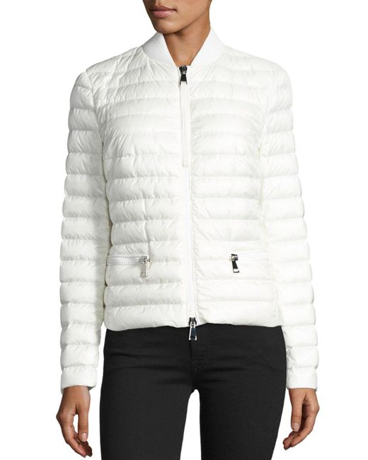 Moncler - White Blen Fitted Down Jacket - Lyst
