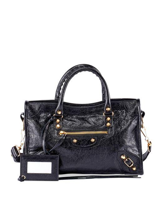 Balenciaga - Black Classic City Aj Small Leather Satchel Bag - Lyst