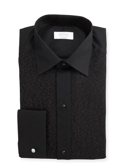 Eton of Sweden - Black Metallic Dotted Formal Shirt for Men - Lyst