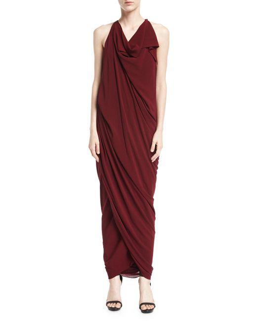 Urban Zen - Red Convertible Draped Jersey Maxi Dress - Lyst