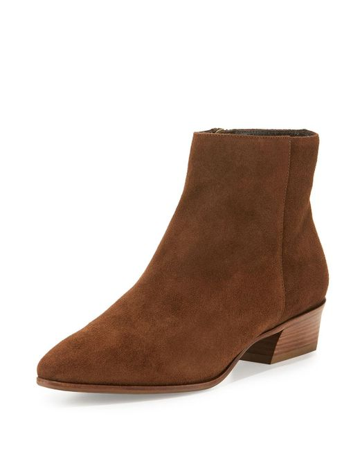Aquatalia - Brown 40mm Fire Suede Ankle Boot - Lyst