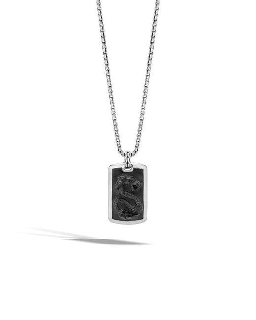 John Hardy   Black Men's Batu Dragon Dog Tag Necklace for Men   Lyst