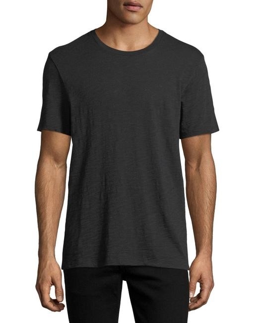 Vince - Black Short-sleeve Slub T-shirt for Men - Lyst