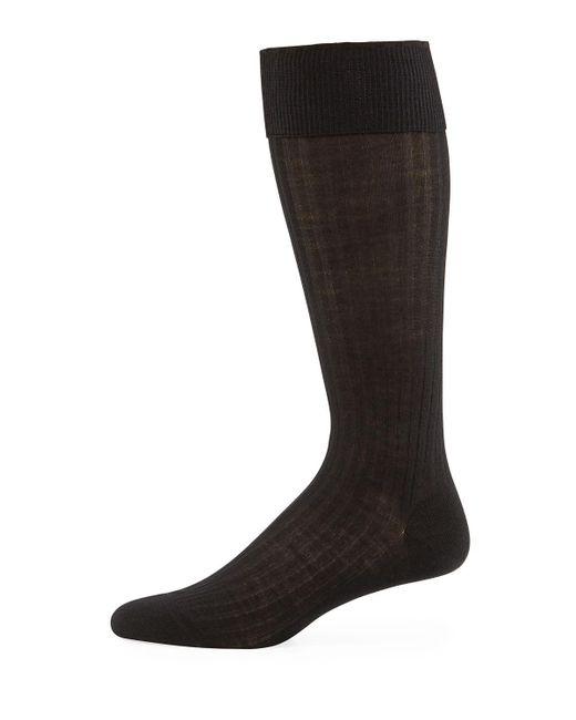 Pantherella - Black Men's Over-the-calf Ribbed Merino Wool Socks for Men - Lyst