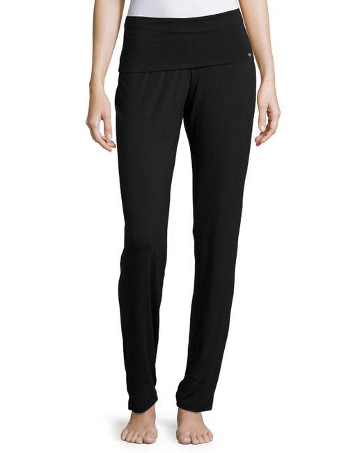 Hanro - Black Yoga Basic Stretch-Jersey Pants - Lyst