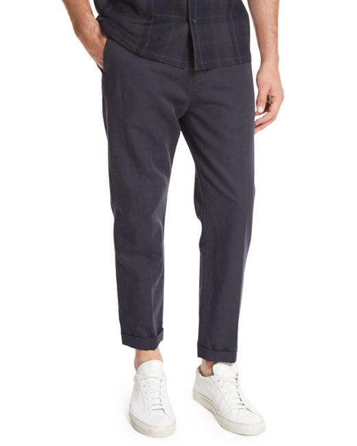 Vince | Blue Relaxed Cropped Trouser for Men | Lyst