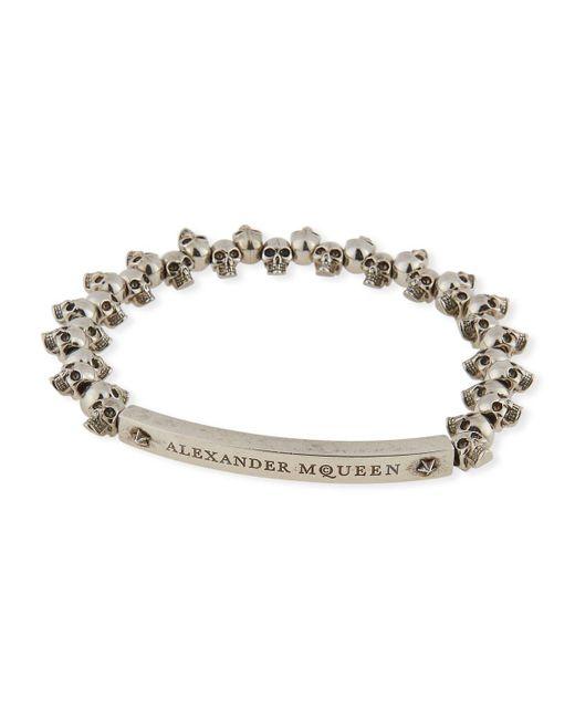 Alexander McQueen - Metallic Men's Brass Mini-skull Bead Bracelet for Men - Lyst