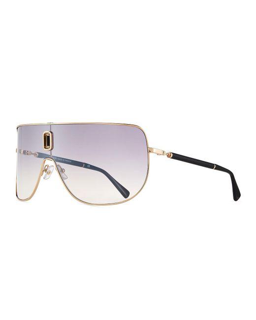 Balmain   Metallic Metal Shield Sunglasses for Men   Lyst
