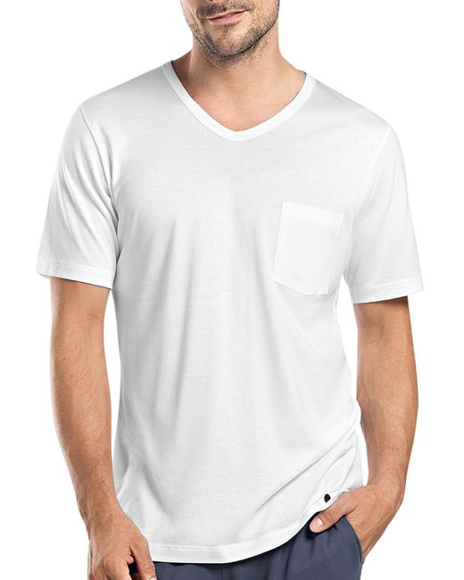 Hanro - White Night & Day Short-sleeve Tee W/pocket for Men - Lyst