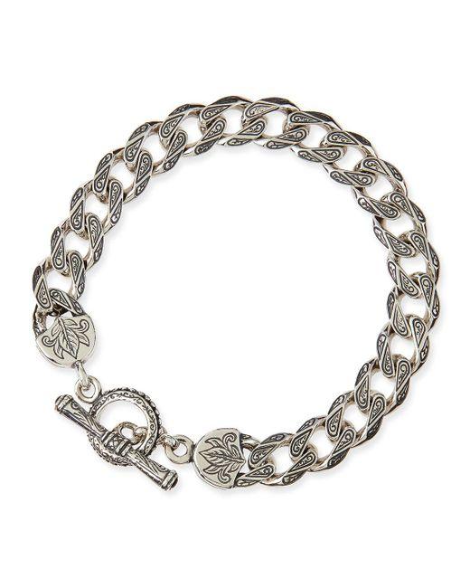 Konstantino - Metallic Men's Sterling Silver Flat Link Bracelet for Men - Lyst