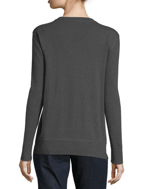 Lisa todd Holiday Bulldog Cashmere Sweater in Gray - Save 9% | Lyst