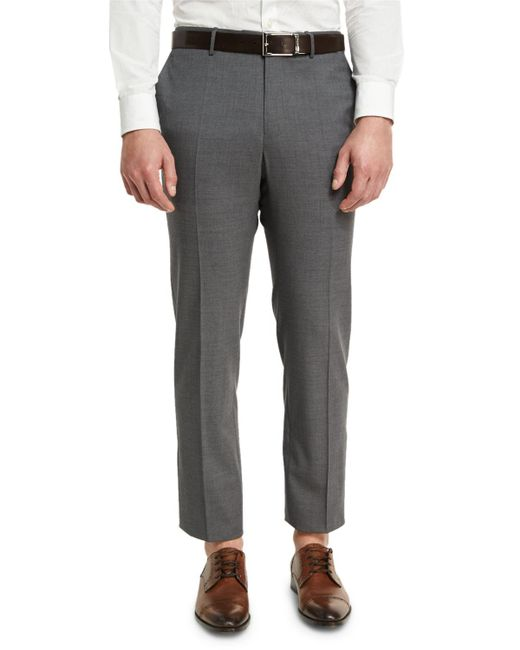 Incotex | Blue Super 150s Wool Flat-front Trousers for Men | Lyst