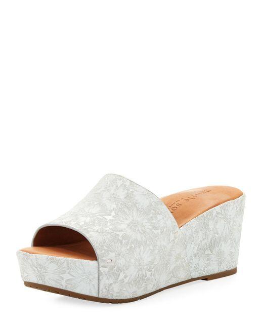 Gentle Souls - White Forella Floral Wedge Platform Sandal - Lyst