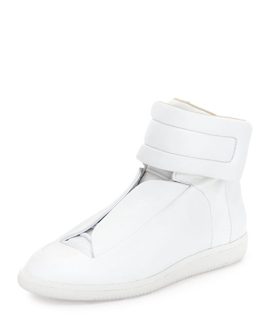 Maison Margiela   Red Future Soft Leather High Top Sneakers for Men   Lyst