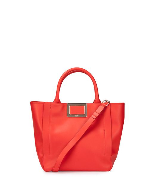 Roger Vivier | Red Ines Small Shopping Bag | Lyst