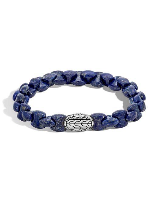 John Hardy - Blue Sterling Silver Classic Chain Lapis Lazuli Bead Bracelet for Men - Lyst