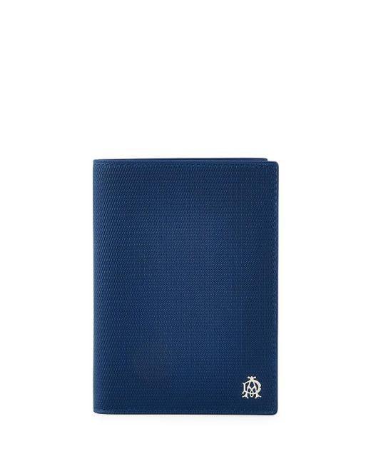 Dunhill | Blue Engine Turn Leather Passport Holder for Men | Lyst