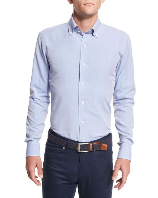 Peter Millar - Blue Collection Perfect Pinpoint Button-front Shirt for Men - Lyst