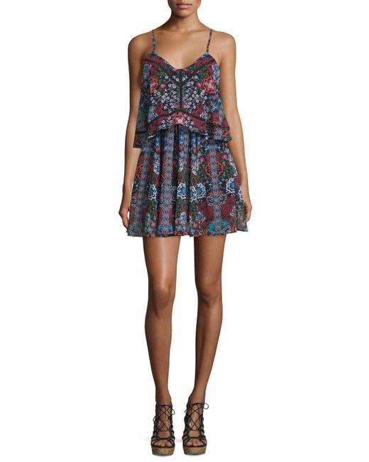 Nicholas   Multicolor Sleeveless Popover Mini Dress   Lyst