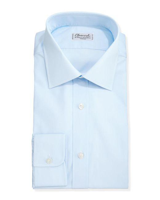 Charvet - Blue Solid Poplin Dress Shirt for Men - Lyst