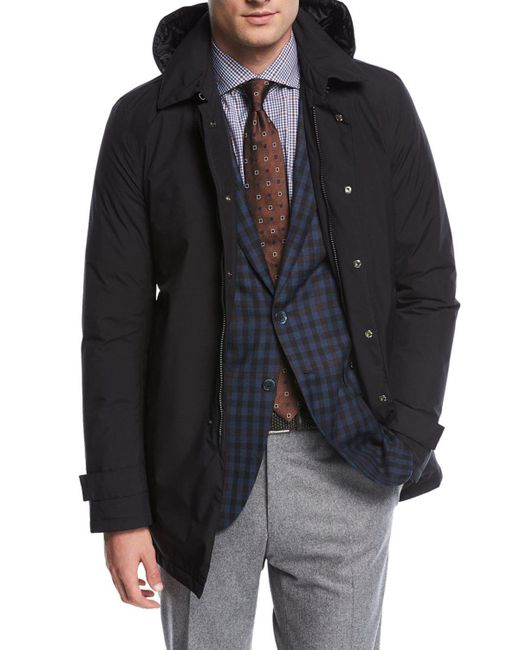 Herno - Black Laminar City Trench Coat W/ Hood for Men - Lyst