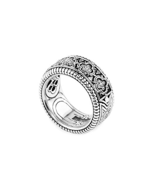 Konstantino - Metallic Zeus Carved Sterling Silver Band Ring for Men - Lyst