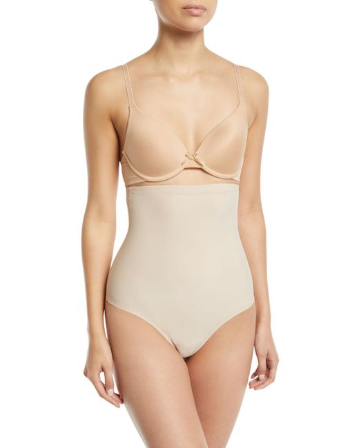 Tc Fine Intimates - Natural High-waist Shaping Thong - Lyst