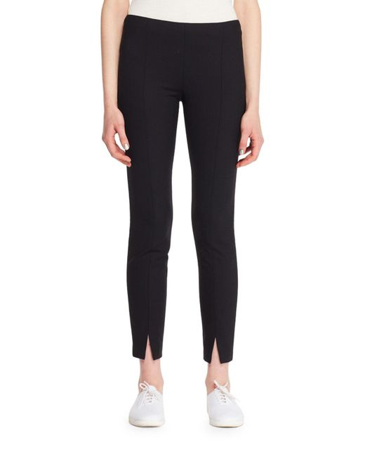 The Row - Black Thilde Straight-leg Ankle Textured Crepe Pants - Lyst