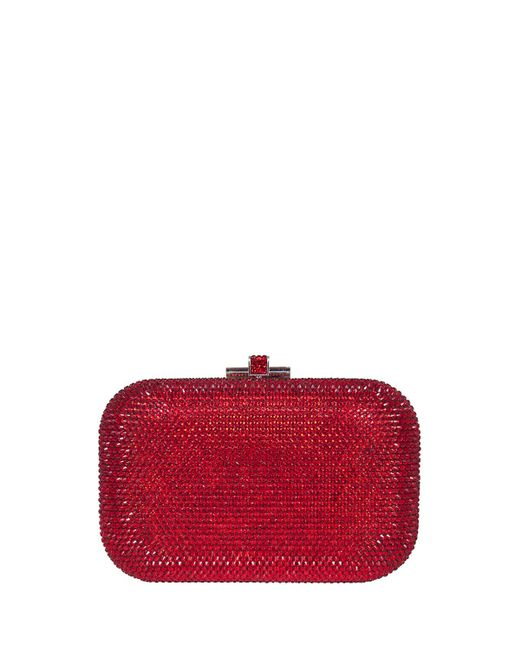 Judith Leiber Couture | Red Crystal Slide-lock Clutch Bag | Lyst